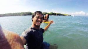 learn how to surf in canggu bali